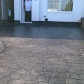 imprinted concrete driveway completed in Northwich Cheshire
